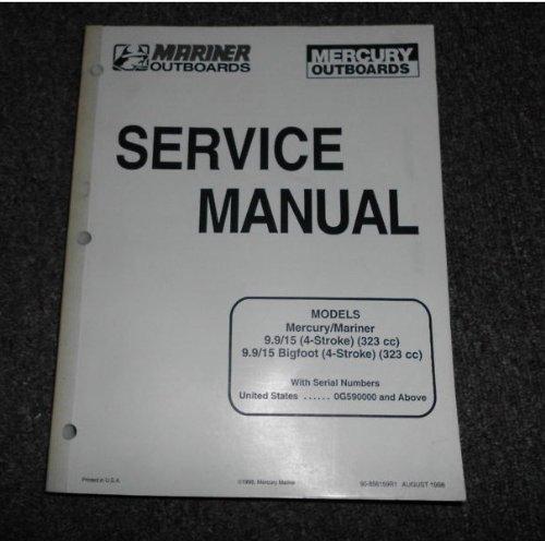 1998 Mercury 9.9 15 4 strole Bigfoot Manual OEM