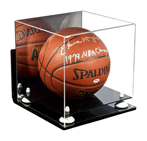 Deluxe Acrylic Basketball Display Case with White Risers Mirror and Wall Mount (A001-WR) by Better Display Cases