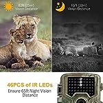 COOLIFE 21MP 1080P HD Caméra de Chasse Caméra de Surveillance Étanche 49 LEDs Grand Angle 125 ° De Vision Nocturne 25m… 9