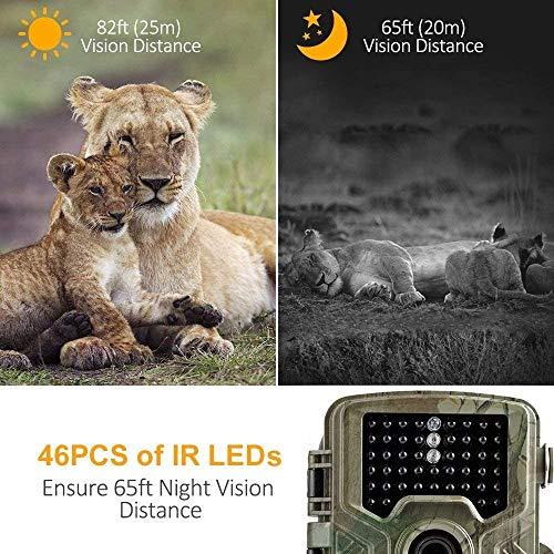 COOLIFE 21MP 1080P HD Caméra de Chasse Caméra de Surveillance Étanche 49 LEDs Grand Angle 125 ° De Vision Nocturne 25m… 4
