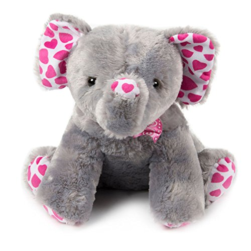 Ultra Soft Stuffed Animal Elephant Plush Toy 15 Inches Gray