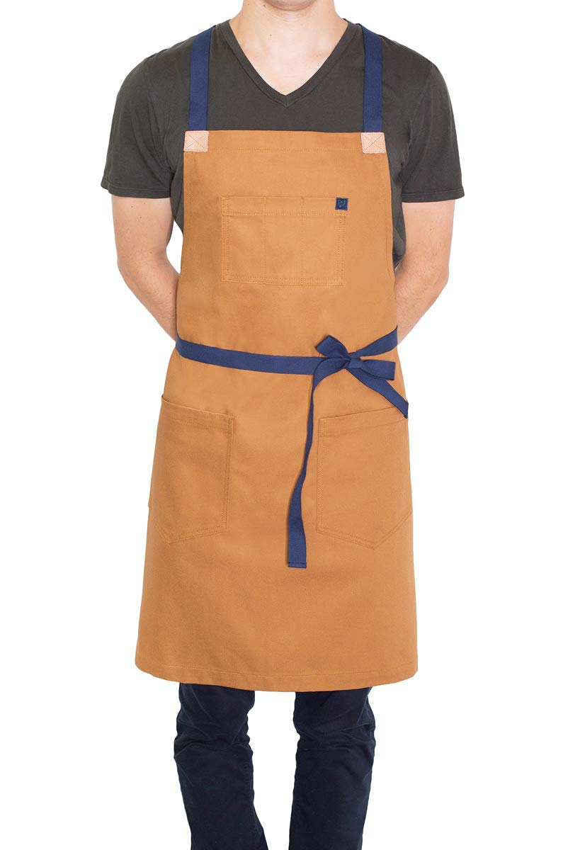 hedley & bennett Denver Crossback Apron - Unisex & One Size Fits Most - Loved and Endorsed by Professional and Celebrity Chefs by Hedley & Bennett