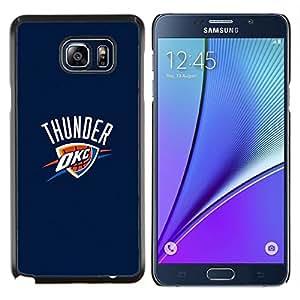 OKC Baloncesto- Metal de aluminio y de plástico duro Caja del teléfono - Negro - Samsung Galaxy Note5 / N920