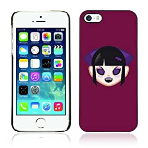 CQ Tech Phone Accessory: Carcasa Trasera Rigida Aluminio PARA Apple iPhone 5 5S - Funny Cute Vampire Girl