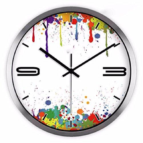 LQXZM-Art Clock Fashion Art Clock Creative South Korean Abstract Art Quartz Watch 12 Inchesa
