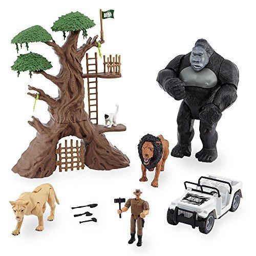 Animal Planet Lights & Sounds Jungle Encounter Mega Playset with Large Gorilla (Gorilla Toys)