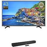 ハイセンス 43V型 フルハイビジョン 液晶 テレビ HJ43K3120 + JBL Bar Studio 2.0chホームシアターシステムBluetooth/HDMI/ARC対応 ブラック JBLBARSBLKJN セット