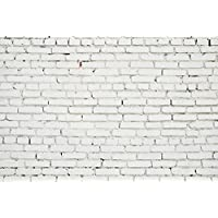 7x5ft White Brick Wall Backdrop Photography Background Studio Prop Photo Backdrop D-5047