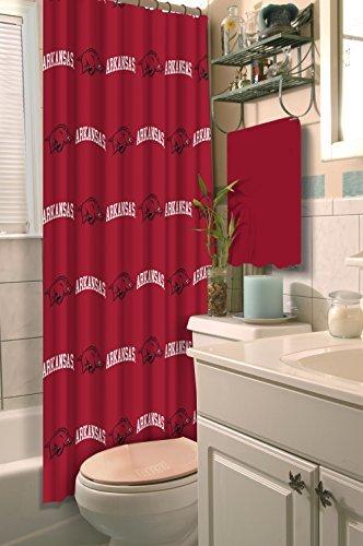 Arkansas Razorbacks Shower Curtain - Northwest NCAA Arkansas Razorbacks Cardinal 72
