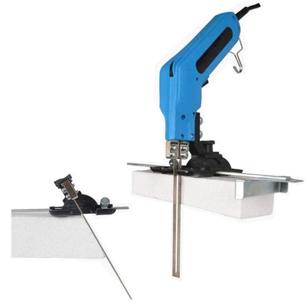 TOPQSC 4 en 1 Cuchillo caliente el/éctrico cortador cuchillo de calor 220V cortador de cuerda kit de herramientas de corte de espuma de poliestireno para cortar tela//caucho//cuerda//pl/ástico//acr/ílico