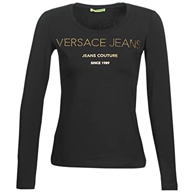 d86e0d2b38531a Versace Jeans NOLETO T-Shirts   Poloshirts Damen Schwarz - EU XXS -  Langarmshirts