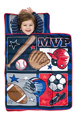 Baby Boom Nap Mat Set – Includes Pillow and Fleece Blanket – Great for Boys and Girls Napping at Daycare, Preschool, Or Kindergarten – Fits Sleeping Toddlers and Young Children – Kid Friendly Design