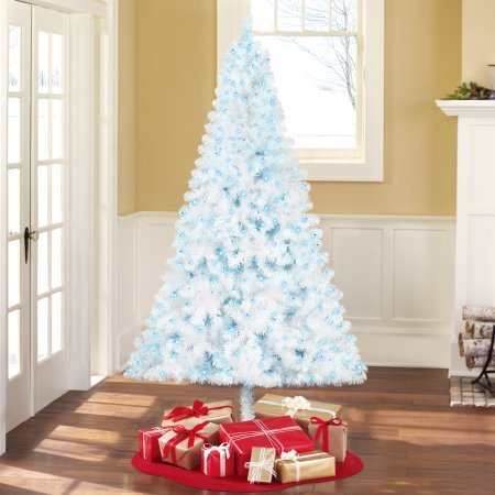 Artificial X-mas Tree Pre-Lit 6.5' Madison Pine White, Blue-Lights White Christmas Trees