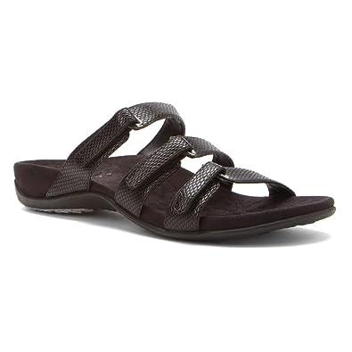 fc385b368242 Vionic Aubrey - Womens Slide Sandals - Orthaheel Black Snake - 11 UK Size    9  Amazon.co.uk  Shoes   Bags