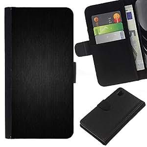 NEECELL GIFT forCITY // Billetera de cuero Caso Cubierta de protección Carcasa / Leather Wallet Case for Sony Xperia Z1 L39 // Motif gris