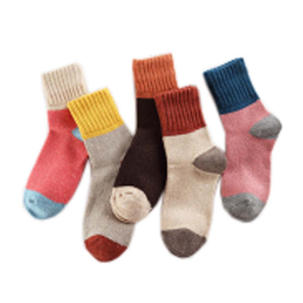 5 Pairs Vintage Style Warm Socks Outdoor Hiking Socks Great Gift for Women, S-03