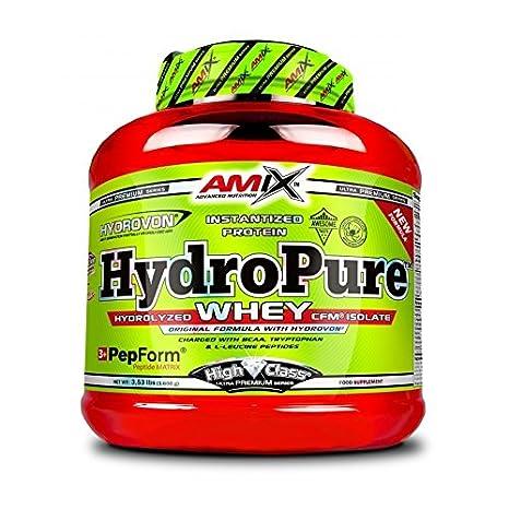 Amix High Class HydroPure Whey - 1600gr aislado de proteína de suero de leche hidrolizado Crema cacahuete- Cookies: Amazon.es: Salud y cuidado personal