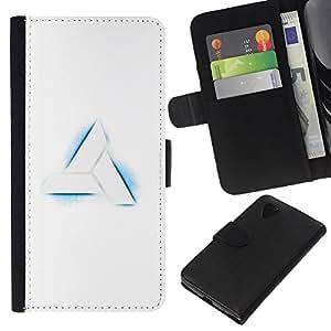 """A-type (Nimus Logo"""") Colorida Impresión Funda Cuero Monedero Caja Bolsa Cubierta Caja Piel Card Slots Para LG Nexus 5 D820 D821"""