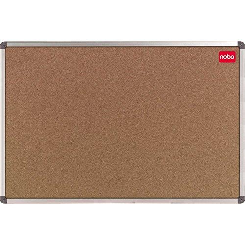 kit di assemblaggio incluso Bacheca in sughero con profilati in alluminio angoli rinforzati Nobo 1902118 90 x 60 cm colore: marrone
