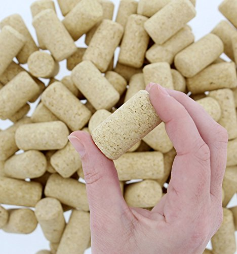 """Premium Bulk Wine Corks 1-¾"""" x 15/16"""" Fit Most Bottles, 100 Pack, Natural Straight & Non-Recycled #9 by G Francis (Image #2)"""