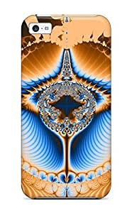 Awesome Design Fractal Hard Case Cover For Iphone 5c by mcsharks