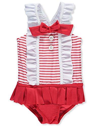 Shirley Spandex Bikini - SOL Swim Girls Girls' Shirley Temple Swimsuit, 18M