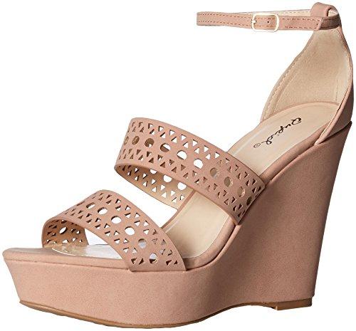 Wedge Women's Nubuck Polyurethane Blush Qupid Sandal Espadrille 4RWTTPn