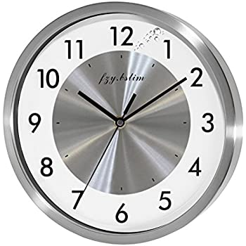 Amazon Com Telesonic Silver Wall Clock W Quiet Sweep
