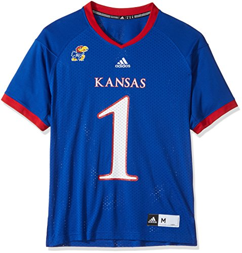 NCAA Kansas Jayhawks Men's Replica Football Jersey, Blue, (Kansas Jersey)