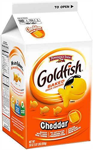 (Pepperidge Farm, Goldfish, Crackers, Cheddar, 30 oz, Carton)