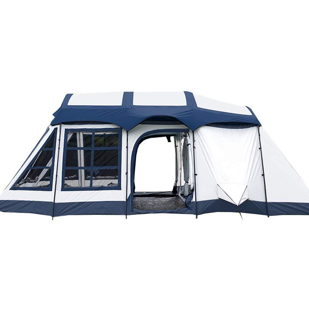 屋外防水日焼け止め2つの部屋および1つの居間8-10人のキャンプの家族のテントのバックパックのテント 青 B07NXS4CFM B07NXS4CFM 青 青 青, カモガワシ:ee0eb6fc --- cooleycoastrun.com