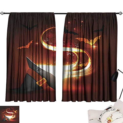 SINXY&CASE Blackout Window Curtain Halloween Party Bright Picture 5 72