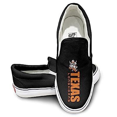 Amone Texas Longhors College Sportstyle Unisex Flat Canvas Shoes Sneaker Black