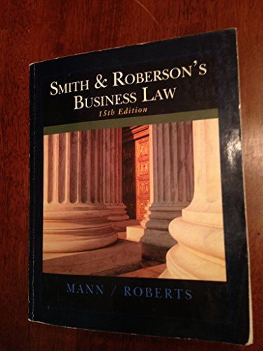 Smith and Roberson's Business Law 15th Edition