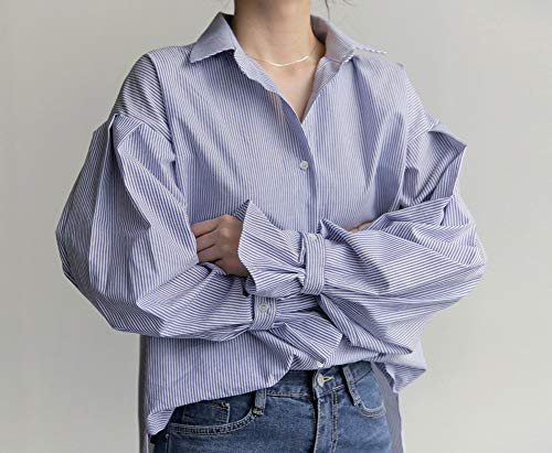 Blouse Big en Blouses Vrac Shirt Lanterne Taille Manches Shirt Manches S Manches lgant Snone Chemise Tops T Style Femme Taille XL Chic Cuffed 8qn7Svn