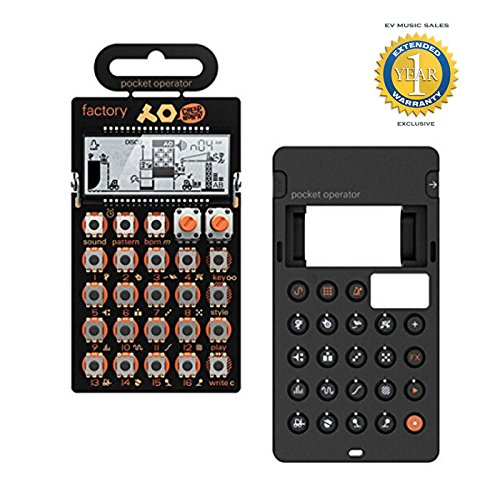 Teenage Engineering PO-16 Factory Synthesizer & Silicone Case with 1 Year Free Extended Warranty by Teenage Engineering