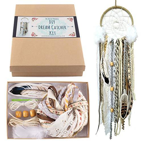 Make Your Own Dream Catcher Kit DIY Craft Activity Cream Wall Hanging Birthday Gift