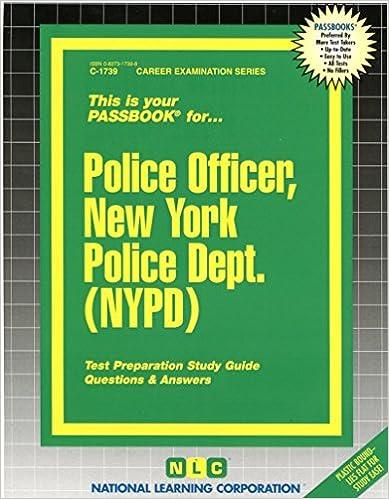 Police Officer, New York Police Dept. (NYPD)(Passbooks) (Career ...