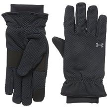 Under Armour Women's Coldgear Infrared Fleece Gloves, Black/Rhino Gray, Medium