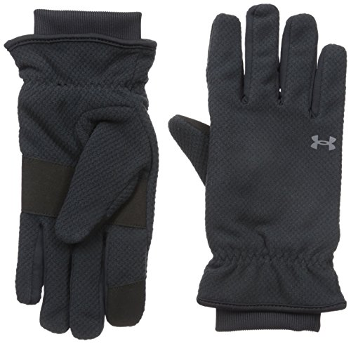 Under Armour Women's ColdGear Infrared Fleece Gloves, Black (001)/Rhino Gray, X-Large (Under Motorcycle Armour Gloves)