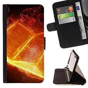 For Samsung Galaxy Note 4 IV Case , Libro Fuego Goth Muerte Biblia Heavy Metal- la tarjeta de Crédito Slots PU Funda de cuero Monedero caso cubierta de piel