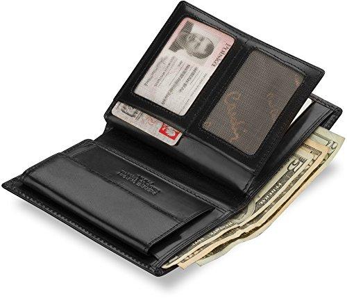 Leder - Herren - Geldbörse PIERRE CARDIN elegante klassische Brieftasche schwarz