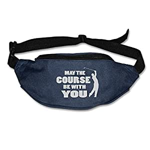101Dog Outdoor Bumbag May The Course Be With YOU Golf Mini Dumpling Waist Bag Packs Hip Bags For Women Man Outdoors Workout - Great For Running Hiking Travel Sport Fishing