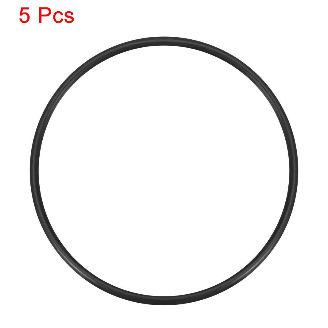 1 mm-20 mm de di/ámetro interior 2 mm de ancho Sourcingmap juntas t/óricas de silicona junta de sellado