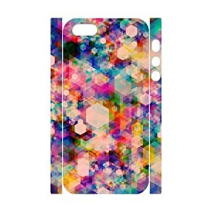 3D [Mosaics Series] IPhone 5,5S Case Fresh from the Dairy, Abstract Mosaics Patterns, Kweet - White by tigerbrace
