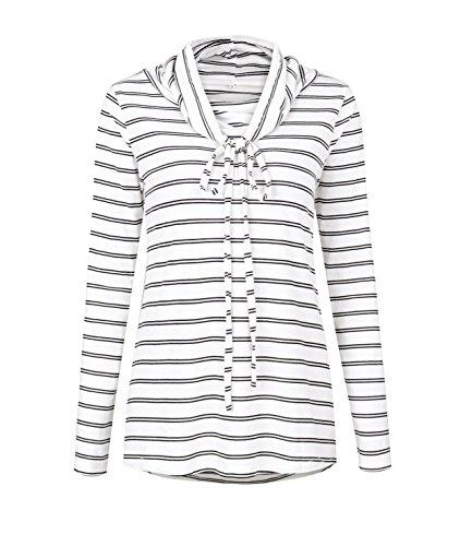 Blouse Et Casual Haut Femme Longues Rayure Blouses Chemisiers Blanc Tops Manches Shirts Bandage OUFour Col vwBRdqR
