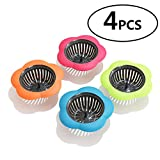 Betwoo Plastic Sink Strainer Kitchen Sink Drain Filter Basket,Set of 4