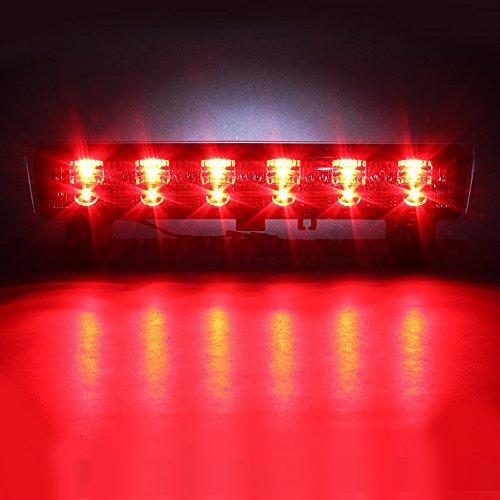 For 2000-2006 Chevrolet Suburban Tahoe//GMC Yukon Third 3rd LED Brake Lights Center High Mount Lamp Rear Stop Light Electroplating+Smoke Lens