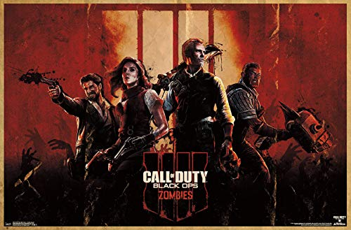 Trends International Call of Duty: Black Ops 4 - Zombie Key Art Wall Poster Multi