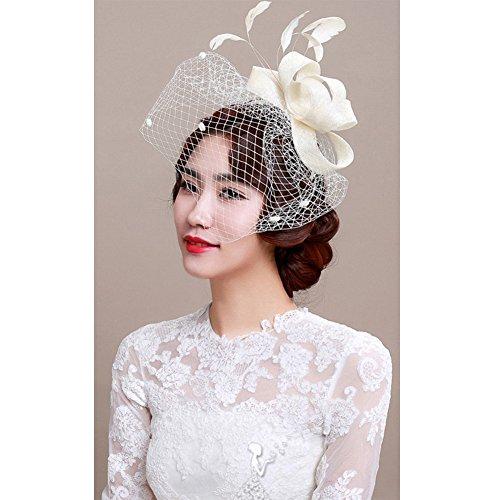 BlueSpace Fascinator Hats for Women Feather Cocktail Kentucky Derby Wedding  Headband de0246bd2bf4
